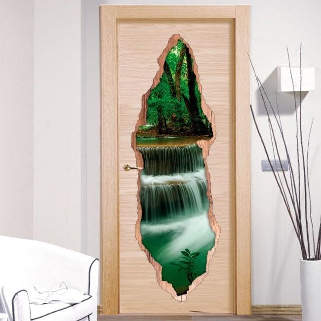 Vinile porte natura cascate 3D
