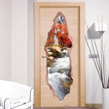 Natura di vinile porta cascata 3D