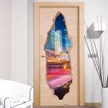 Vinile per luci porte della città 3D