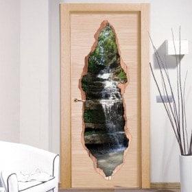 Cascata di montagna porta vinile 3D
