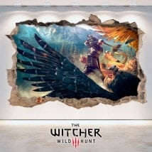 Vinile decorativo The Witcher 3 caccia selvaggia