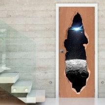 Vinili per porte Luna stella e pianeta