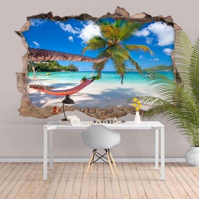Amaca in vinile 3D sulla spiaggia