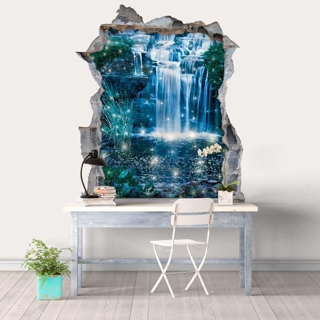 Vinile decorativo 3D cascate magiche