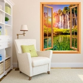 Windows in Cascate tramonto vinile