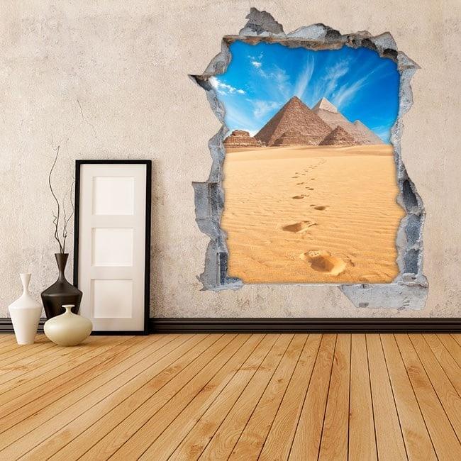 Piramidi 3D di vinile muro di Giza