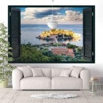 Finestre in vinile 3D Sveti Stefan Monetengro