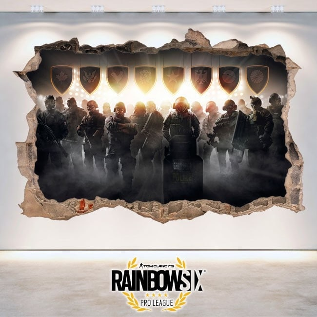 Rainbow Six assedio Pro League adesivi 3D Tom Clancy