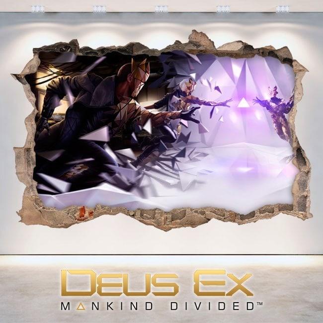 Vinile decorativo 3D Deus Ex l'umanità divisa