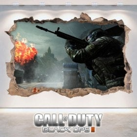 Vinile decorativo 3D di Call Of Duty Black Ops 2