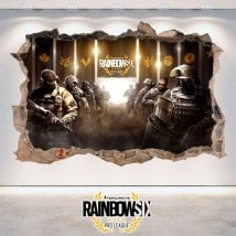 Rainbow Six assedio Pro League vinile 3D Tom Clancy