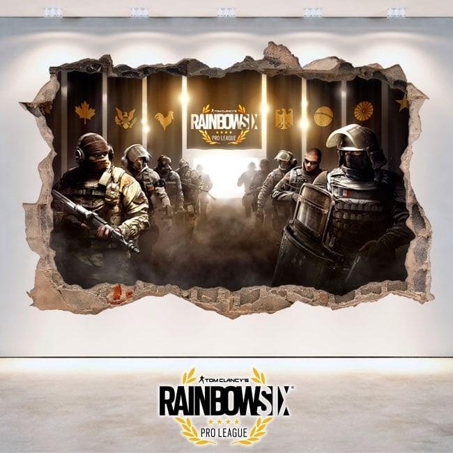 Rainbow Six assedio Pro League vinile 3D Tom Clancy