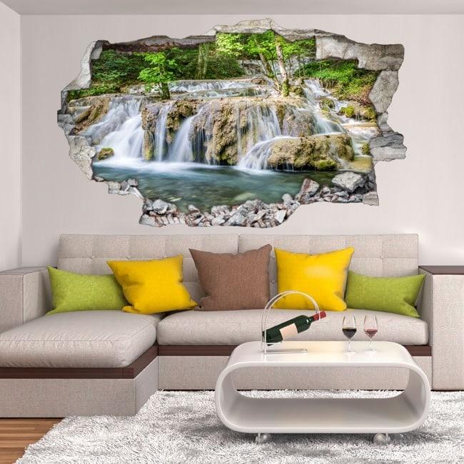 Cascate di vinile decorativi della foresta 3D