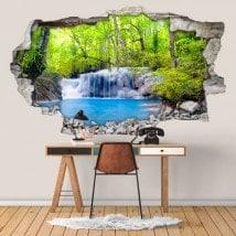 Cascate di vinile 3D nella foresta pluviale