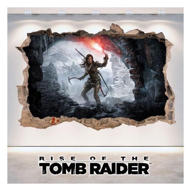 Vinile decorativo 3D Rise di Tomb Raider