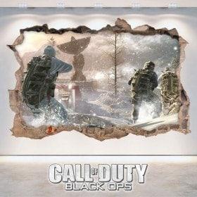 Vinile decorativo 3D di Call Of Duty Black Ops