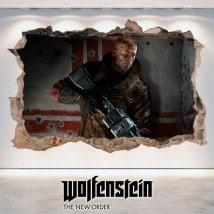 Wolfenstein 3D vinile decorativo nuovo ordine