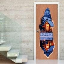 Cabina di vinile porte in inverno 3D