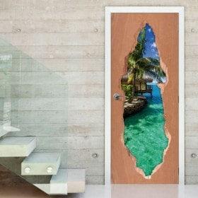 Porta paradiso tropicale 3D per vinili