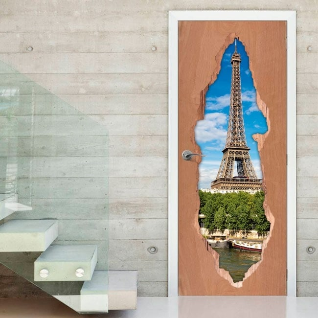 Torre di porte per vinile 3D Eiffel Parigi
