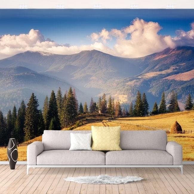 Natura e montagne di murales muro foto