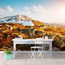 Fotomurali neve montagne