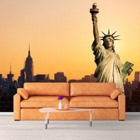 Statua di murales muro foto della libertà New York