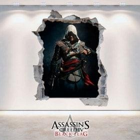 Vinile decorativo 3D di Assassin Creed Black Flag