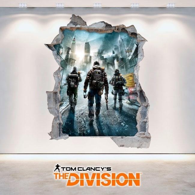 La divisione vinile decorativo 3D Tom Clancy