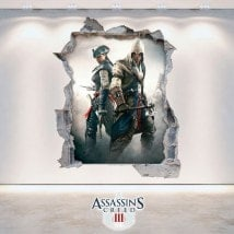 Vinile e adesivi 3D Assassin Creed 3