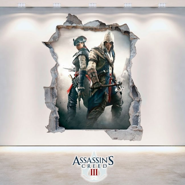 Vinile e adesivi 3D Assassin Creed 3