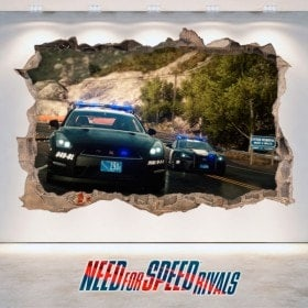 Vinile decorativo 3D Need For Speed Rivals