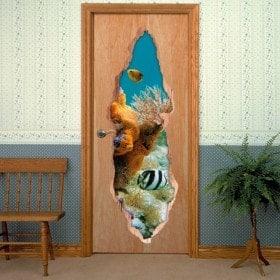 Mondo marino di vinile di porte