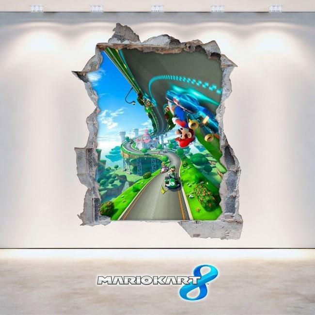 Giochi di vinile 3D Mario Kart video 8