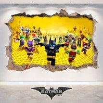 Vinile decorativo 3D Batman Lego