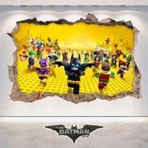 Vinilos Videojuegos 3D Batman Lego