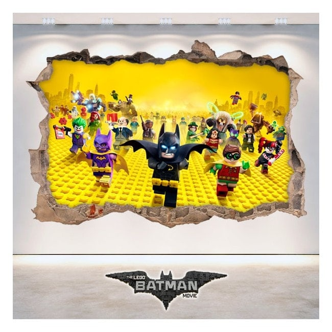 Vinile decorativo 3D Batman Lego