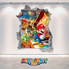 Vinile video gioco 3D Mario Party DS