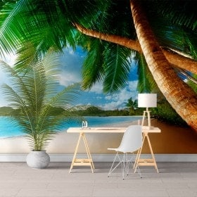 Fotomurali palme sulla spiaggia