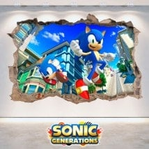 Vinile decorativo 3D Sonic Generations