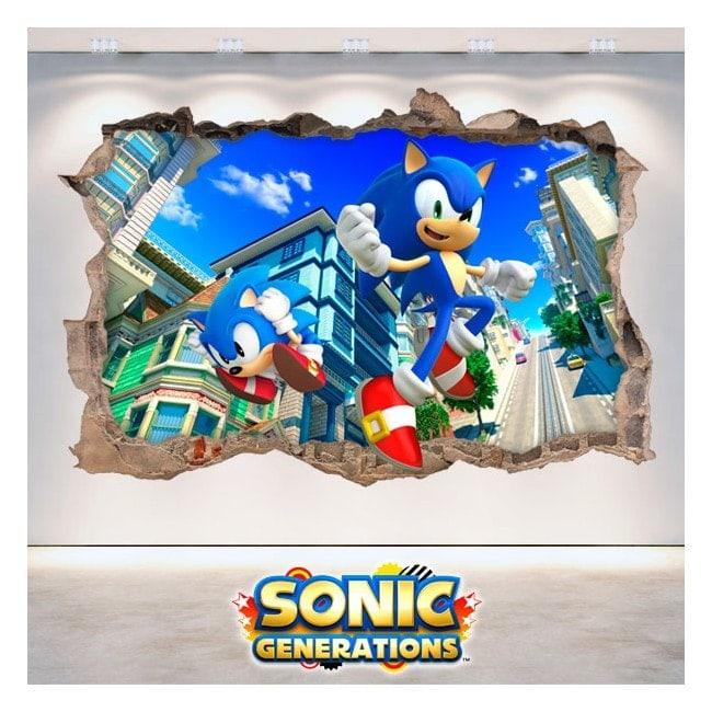 Vinile decorativo 3D Sonic Generations