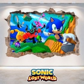Vinile decorativo 3D Sonic Lost World