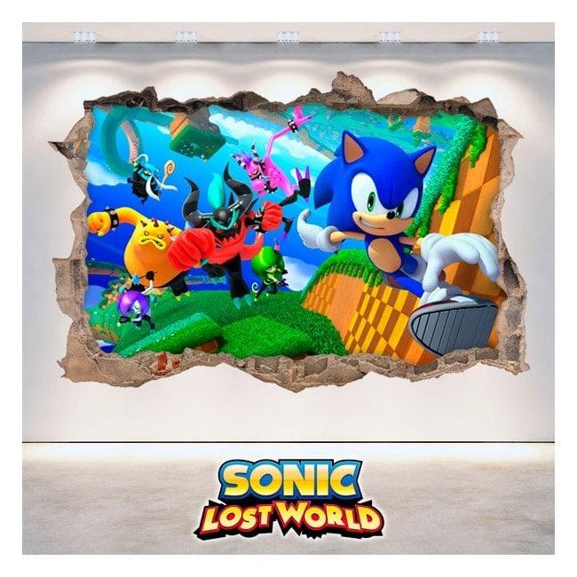 Vinile decorativo 3D Sonic Lost World