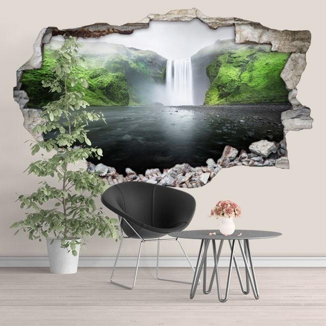 Vinile in cascata di montagna 3D