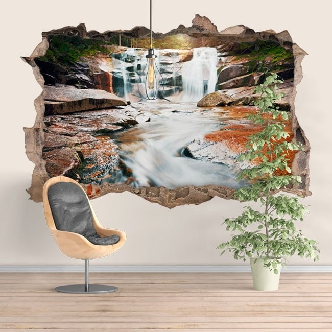 Montagna di Cascades decorativo vinile 3D