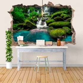 Vinile e adesivi 3D cascate nella foresta