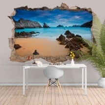 Spiaggia e mare 3D vinile decorativo