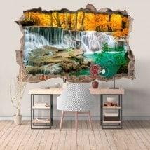 Cascate di vinile della foresta 3D