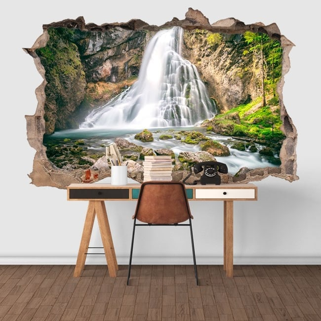 Montagna di vinile decorativo 3D cascate