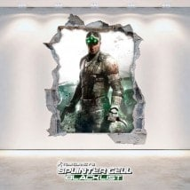 Splinter Cell Blacklist vinile decorativo 3D Tom Clancy